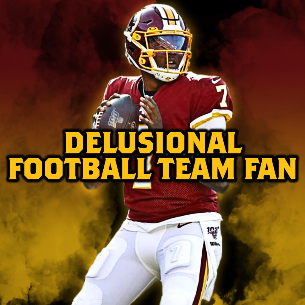 Delusional Football Team Fan profile graphic designed by Adam Obringer
